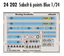 Eduard 1/24 Blue Sabelt 6 Points Seatbelts PRE-PAINTED IN COLOUR! # 24202