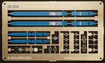 Eduard 1/24 Blue Sparco 4 point race car seatbelts # 24004