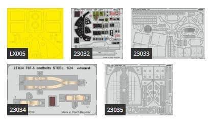 Eduard 1/24 Grumman F6F-5 Hellcat Big-Ed Set # 2404