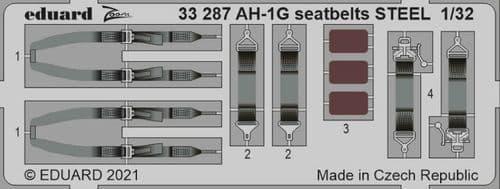 Eduard 1/32 Bell AH-1G Cobra Seatbelts STEEL Zoom Set # 33287