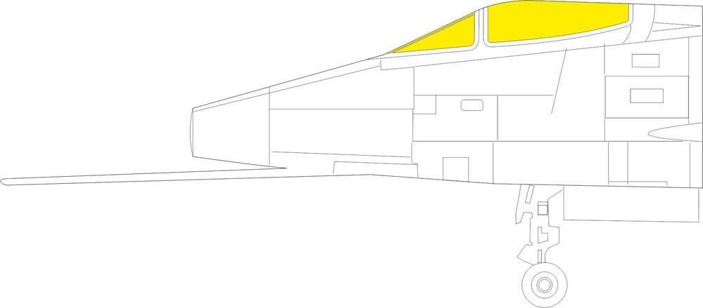 Eduard 1/32 North-American F-100C Super Sabre Paint Mask # JX277
