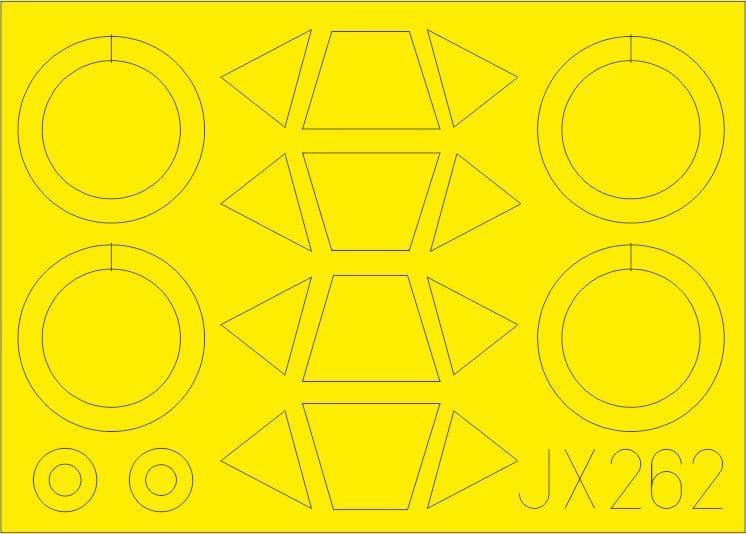 Eduard 1/32 Stearman PT-17/N2S-3 Paint Mask # JX262