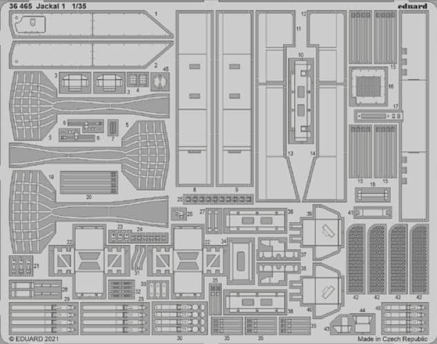 Eduard 1/35 Jackal 1 High Mobility Weapon Platform Detailing Set # 36465