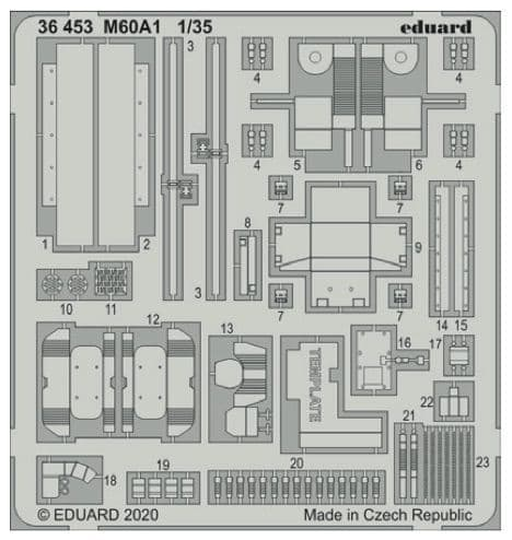 Eduard 1/35 M40A1 Patton Detailing Set # 36453