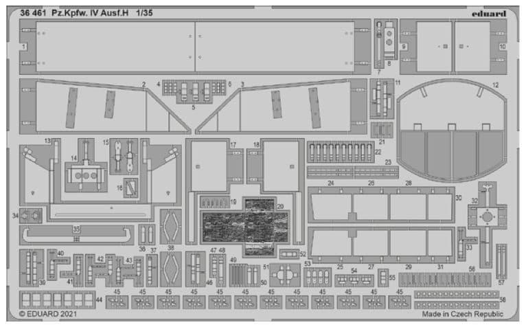 Eduard 1/35 Pz.Kpfw.IV Ausf.H Detailing Set # 36461