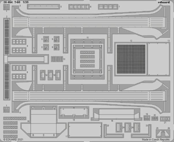 Eduard 1/35 Soviet T-60 Detailing Set # 36464