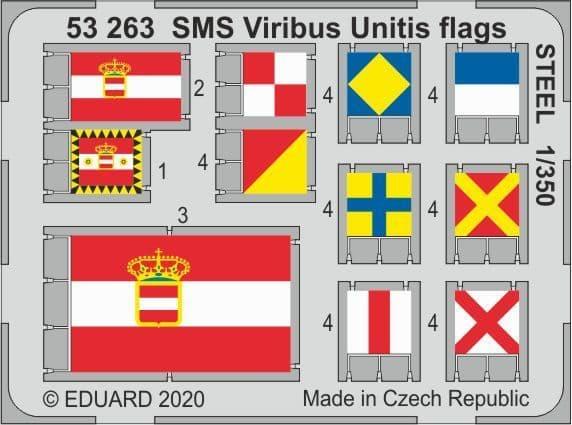 Eduard 1/350 SMS Viribus Unitis Flags STEEL # 53263
