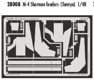 Eduard 1/48 M4 Sherman Fenders # 28008