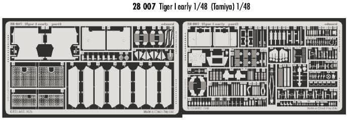 Eduard 1/48 Tiger I early version # 28007