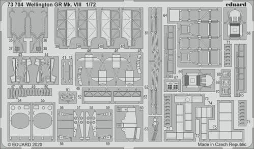 Eduard 1/72 Vickers Wellington GR Mk.VIII Detailing Set # 73704