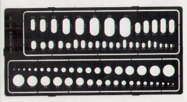 Eduard Circles & Ovals Templates # 00001