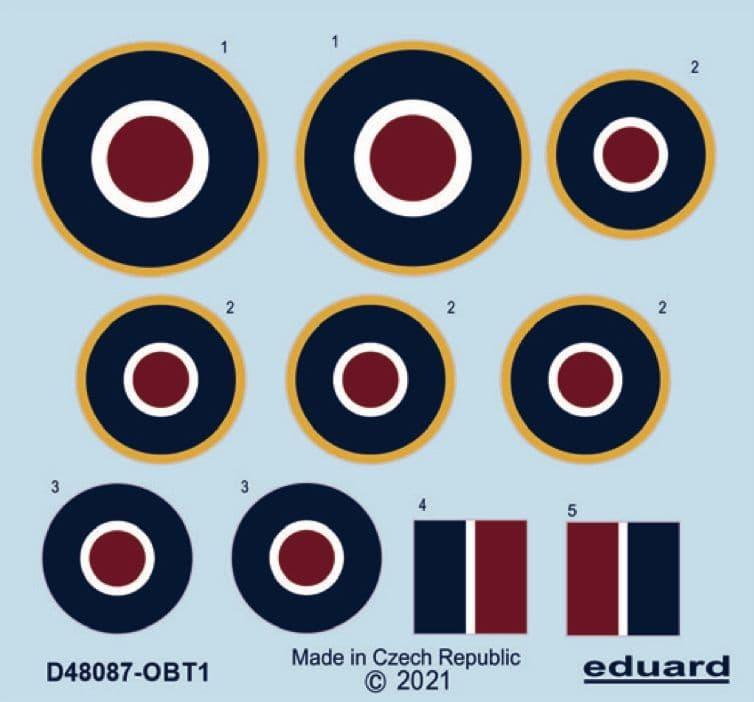 Eduard Decals 1/48 Hawker Tempest Mk.II Roundels # D48087
