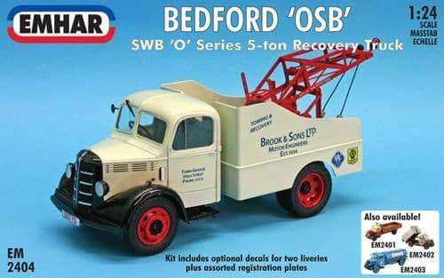 Emhar 1/24 Bedford 'OSB' SWB 'O' Series 5-ton Recovery Truck # 2404