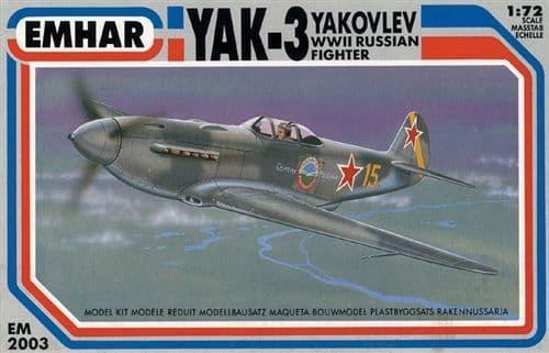 Emhar 1/72 Yakovlev Yak-3 WWII Russian Fighter # 2003