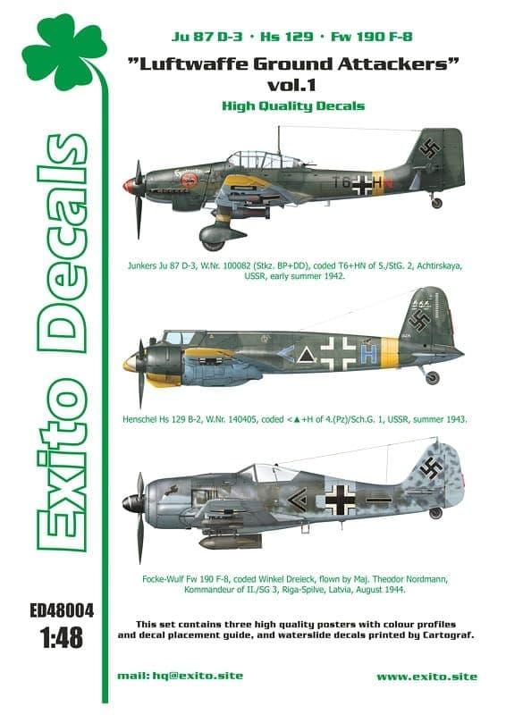 Exito Decals 1/48 Luftwaffe Ground Attackers Vol.1 # 48004