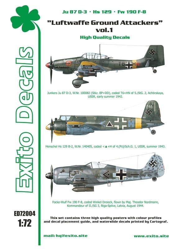 Exito Decals 1/72 Luftwaffe Ground Attackers Vol.1 # 72004