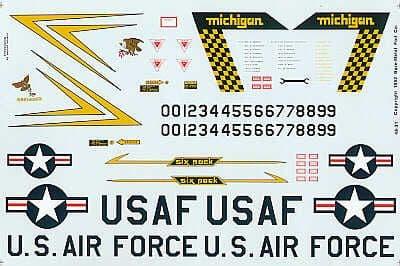 Experts Choice 1/48 Convair F-106A Delta Dart 191FIG 'Six Pack' Michigan ANG Selfridge Air Force Bas
