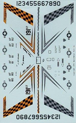 Experts Choice 1/48 Lockheed-Martin F-16 191st FIG Six Pack Selfridge ANG # 4823