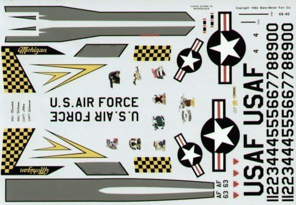 Experts Choice 1/48 McDonnell F-4C Phantom 191 FIG Michigan ANG # 4840