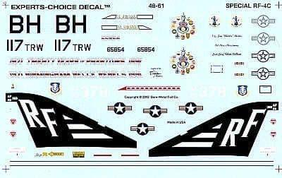 Experts Choice 1/48 McDonnell RF-4C Phantoms # 4861