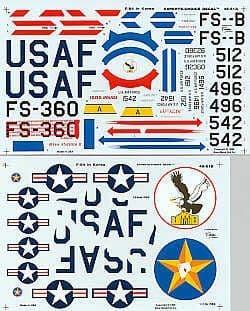 Experts Choice 1/48 Republic F-84E Thunderjet over Korea # 4851
