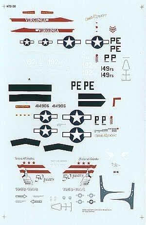 Experts Choice 1/72 Lockheed-Martin F-16C /F-16N North-American P-51D Mustang # 7230