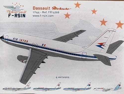 F-rsin 1/144 Dassault Mercure with Air Inter Decals # 44006