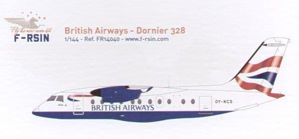 F-rsin 1/144 Dornier Do-328 British Airways # 44040