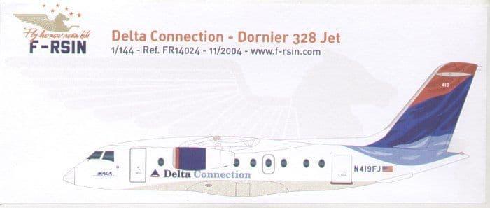 F-rsin 1/144 Dornier Do-328 Delta Connection # 44024