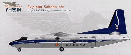 F-rsin 1/144 Fokker F-27-400 Sabena # 44077