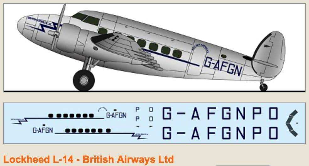 F-rsin 1/144 Lockheed L-14 - British Airways Ltd # 44125
