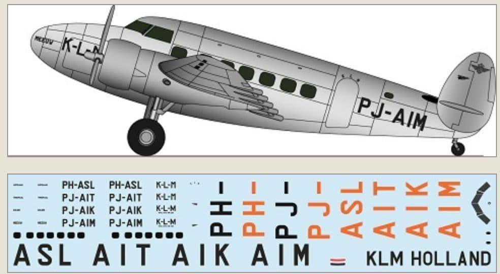 F-rsin 1/144 Lockheed L-14 - KLM Holland # 44126