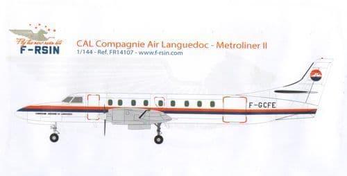 F-rsin 1/144 Metroliner II - Compagnie Air Languedoc # 44107