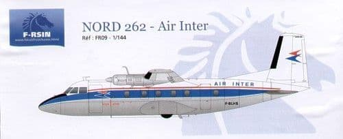 F-rsin 1/144 Nord 262 Air Inter Decals # 44009