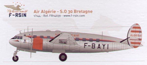 F-rsin 1/144 S.N.C.A.S.O. SO.30P Bretagne Air Algerie # 44039