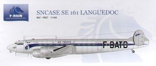 F-rsin 1/144 SE.160 Languedoc Decals Air France # 44007