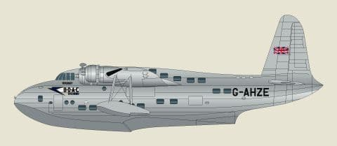 F-rsin 1/144 Short Sandringham BOAC Flying Boat/Seaplane # 44025