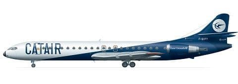 F-rsin Plastic 1/144 Caravelle 12 - Catair # FRP4072