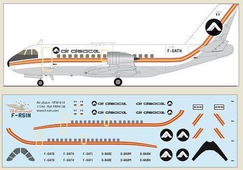 F-rsin Plastic 1/144 VFW-614 - Air Alsace # FRP4138