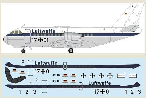 F-rsin Plastic 1/144 VFW-614 - Luftwaffe # FRP4139