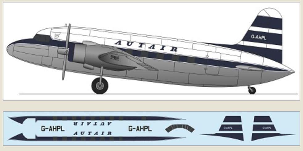 F-rsin Plastic 1/144 Vickers Viking - Autair # FRP4130