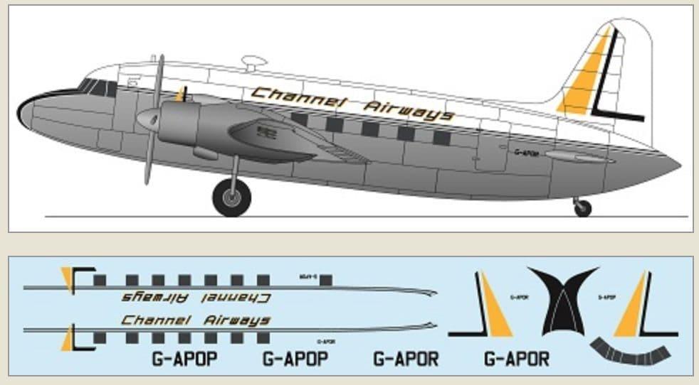 F-rsin Plastic 1/144 Vickers Viking - Channel Airways # FRP4131