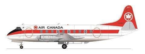 F-rsin Plastic 1/144 Vickers Viscount 700 - Air Canada # FRP4112
