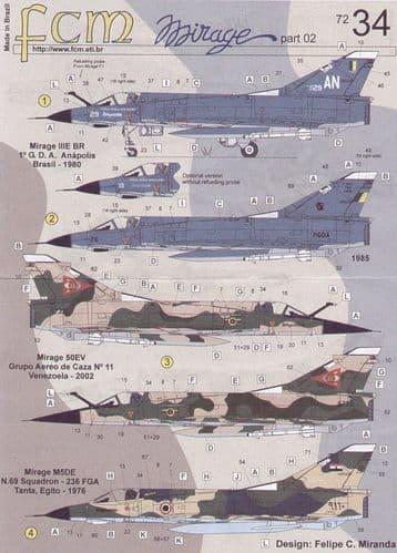 FCM 1/72 Dassault Mirage III Part 2 # 72034