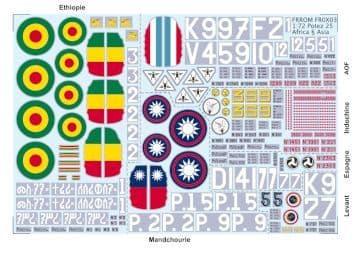 Frrom-Azur 1/72 Potez 25 Africa & Asia # OX03