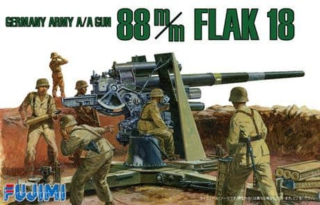 Fujimi 1/76 German Army A/A Gun 88 m/m FLAK 18 # 761206