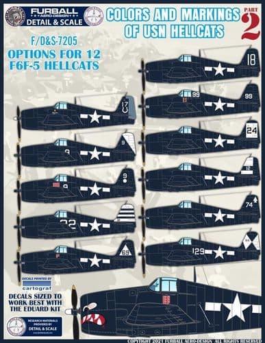 Furball Aero-Design1/72Colors and Markings of US Navy F6F Hellcats Part 2 # S7205