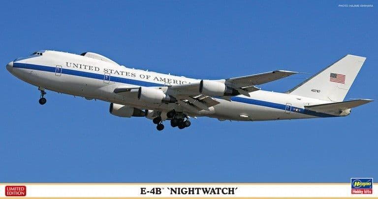 "Hasegawa 1/200 Boeing E-4B ""Nightwatch"" # 10825"