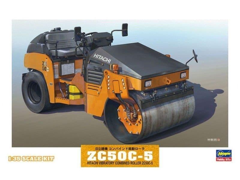 Hasegawa 1/35 Hitachi Vibratory Combined Roller ZC50C-5 # WM02