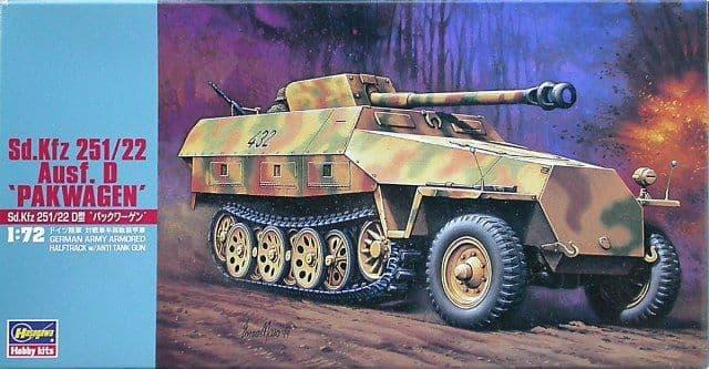 Hasegawa 1/72 German Sd.Kfz.251/22 Ausf.D Pakwagen # MT045